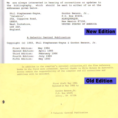 Copyright notice for old and new bibliography