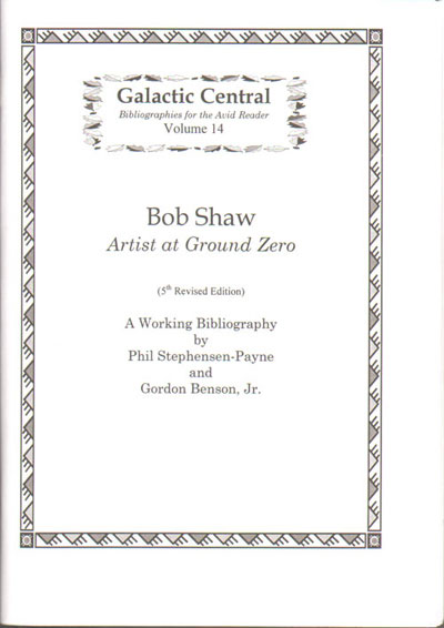 Cover of new bibliography of Bob Shaw